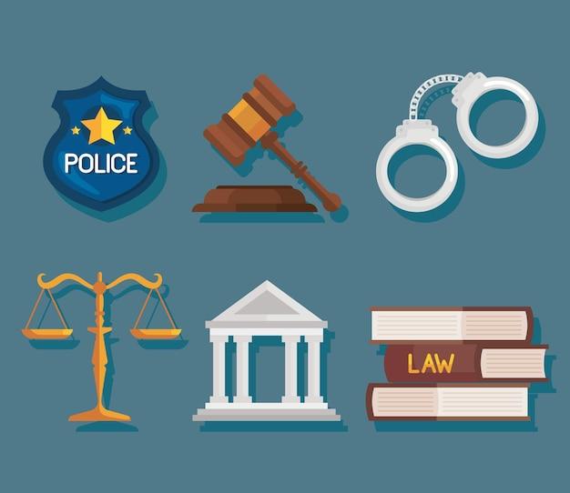 Six icônes de droit et de justice