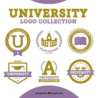 Six logos pour l'université