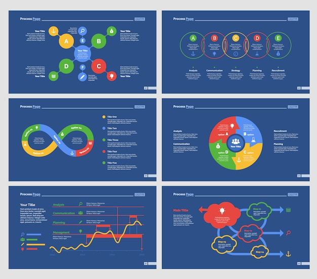 Six modèles d'économie de modèles de diapositives