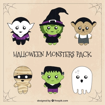 Six pack de personnages mignons de halloween