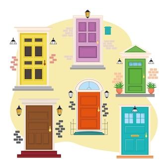Six portes d'entrée