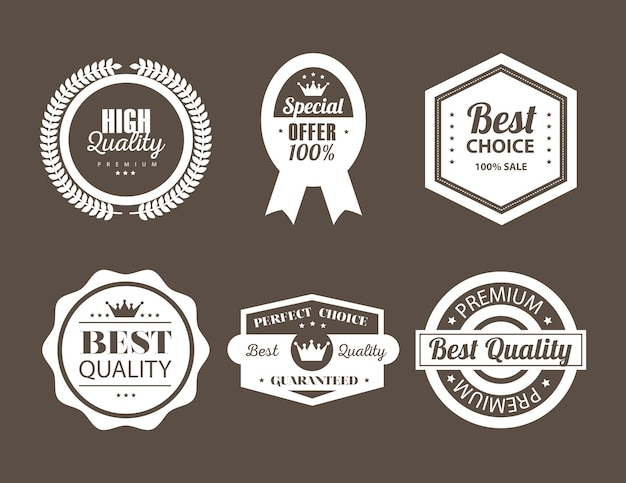 Six sceaux de la meilleure qualité
