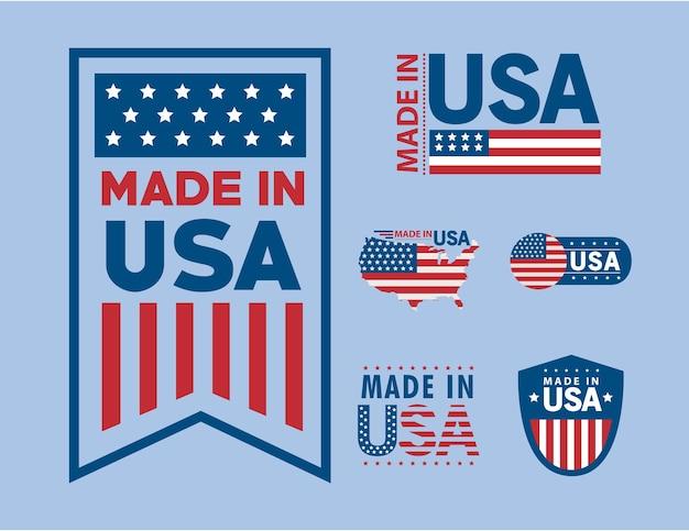 Six scellés fabriqués aux états-unis