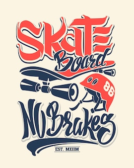 Skate board sans freins