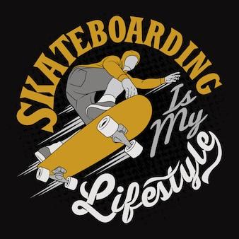 Le skate est mon style de vie. énonciations et citations de vélo.