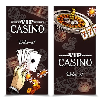 Sketch casino bannières verticales