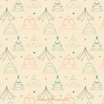 Sketches de camping tentes modèle