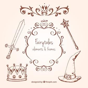 Sketches fée accessoires contes