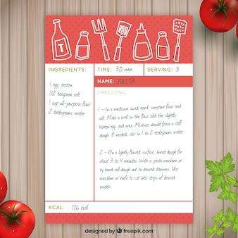 Sketches recette de pâtes