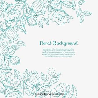 Sketchy fond floral