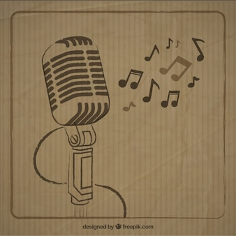 Sketchy microphone dans le style rétro
