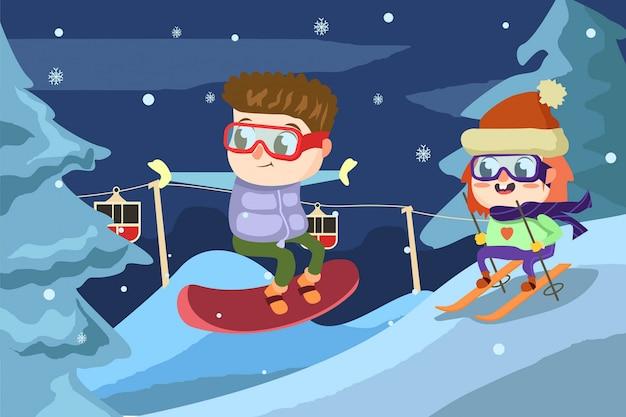 Ski heureux