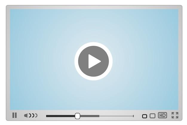 Skin pour lecteur vidéo web, design minimaliste