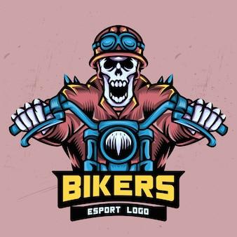 Skull bikers esport création de logo