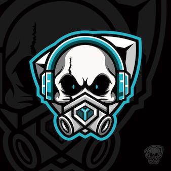 Skull gamer avec respirateur élastomère