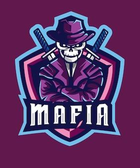 Skull mafia e sports logo