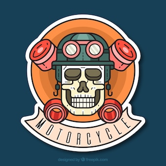 Skull motrocycle background