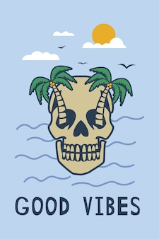 Skull paradise island