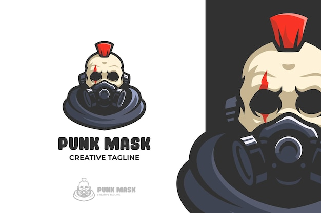 Skull punk wear mask e-sport mascotte logo