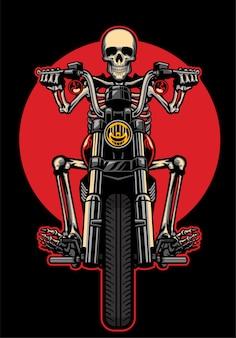Skull riding moto