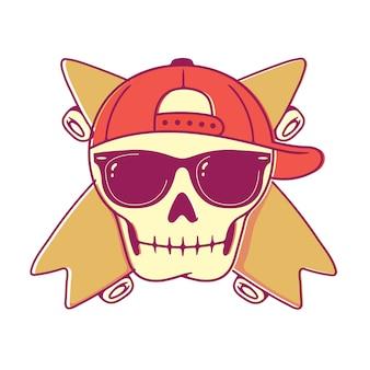 Skull skateboard lunettes de soleil summer cool