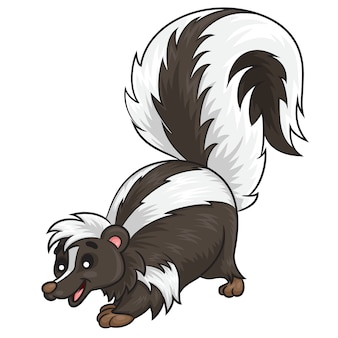 Skunk cute cartoon