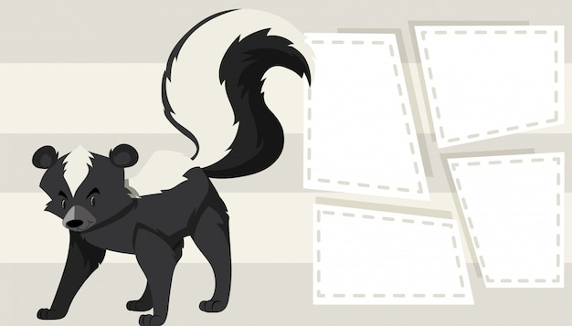 Skunk sur le modèle de note