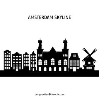 Skyline d'amsterdam