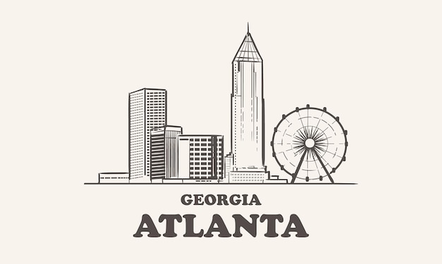 Skyline d'atlanta, géorgie