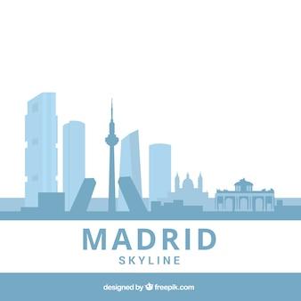 Skyline bleu clair de madrid