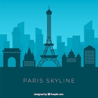Skyline bleue de paris
