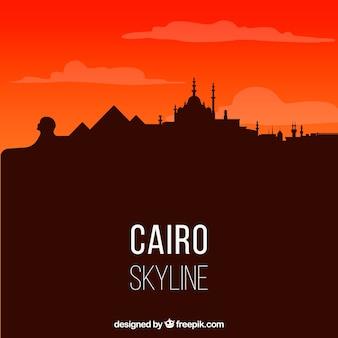 Skyline de cairo élégant avec un design plat