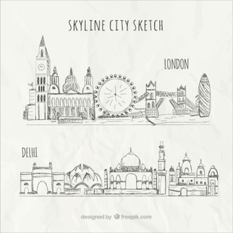 Skyline croquis de la ville