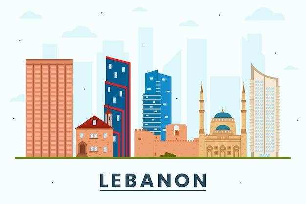 Skyline du liban design plat