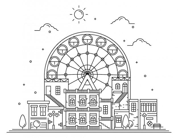 Skyline illustration moderne