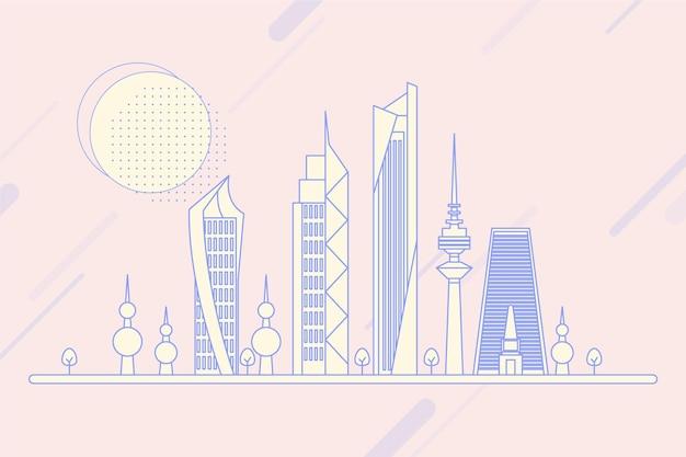 Skyline linéaire du koweït