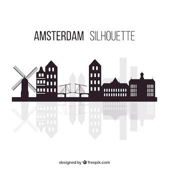Skyline moderne d'amsterdam