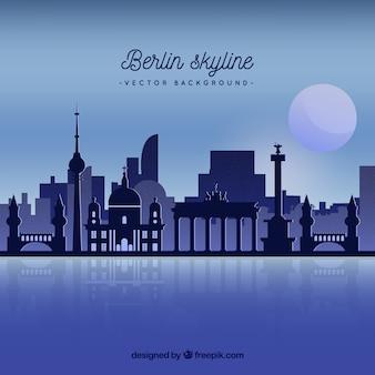 Skyline de nuit de berlin