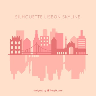 Skyline silhouette de lisbonne