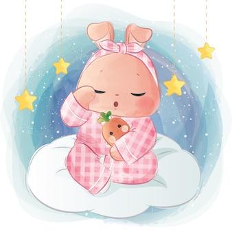 Sleepy little bunny