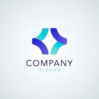 Slogan bleu de l'entreprise créative