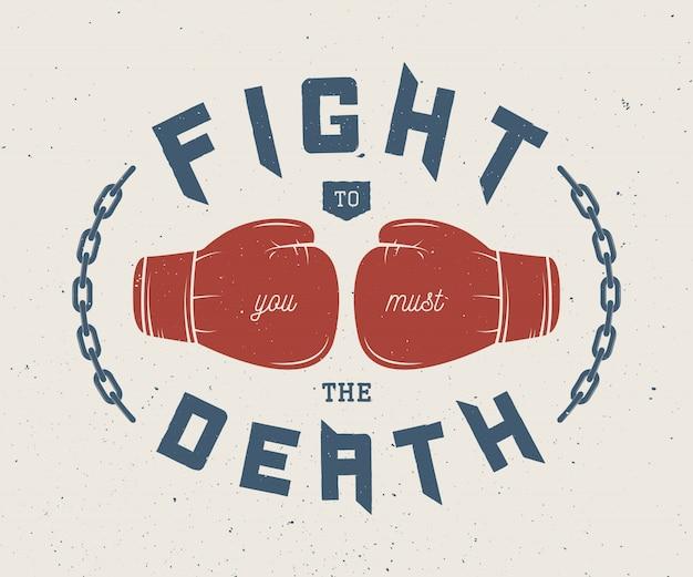 Slogan de boxe