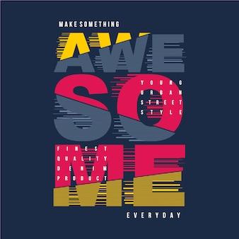 Slogan design graphique t-shirt