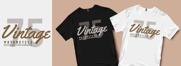 Slogan de dessins de t-shirt de moto vintage