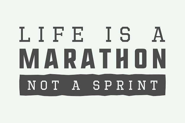Slogan du marathon vintage