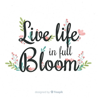 Slogan avec des fleurs