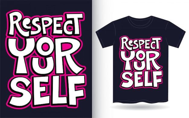 Slogan de lettrage à la main pour t-shirt