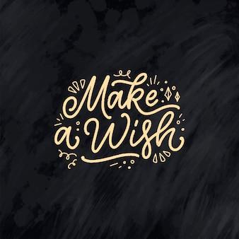 Slogan de lettrage pour la phrase dessinée à la main de joyeux anniversaire pour la carte-cadeau