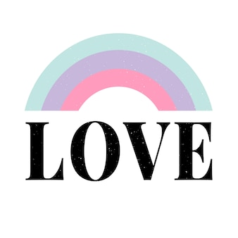 Slogan de lettres d'amour slogan de la mode moderne