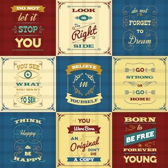 Slogan typographie affiches